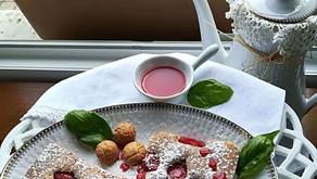Lunettes aux fraises et amaretti