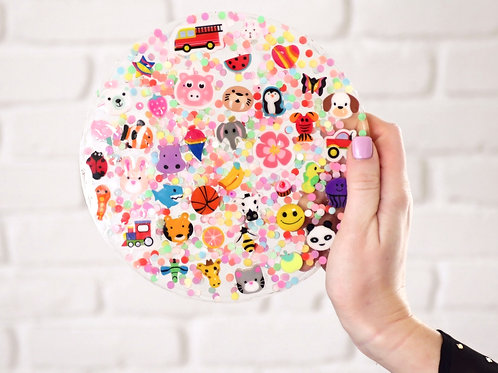 Speech Circles! A colorful, resin based craft with 10 activities!