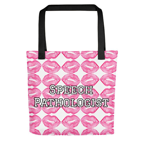 """""""Locked Lips"""" Collection - Speech Pathologist Tote Bag"""
