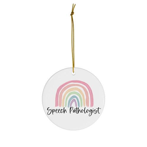 """Over the Rainbow"" (pastel) Ceramic Ornaments (2)"