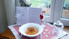 Spaghetti sauce au thon et son parmesan du pauvre.