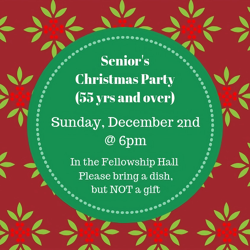 Senior's Christmas Party