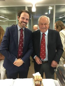 Harvard Business School Club of Italy... il Past President Toni con il neo eletto Presidente Raffaele Petrone... tutti e due anche Ex Allievi Nunziatella