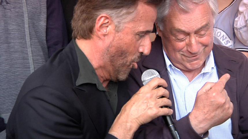 Con Christian De Sica per elezione a Sindaco di Orvieto