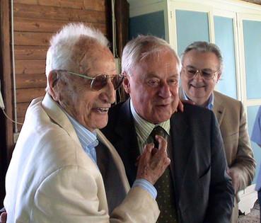 """Ezio Ongaro compie 105 anni!...Festa insieme a Gigi Barberani."""