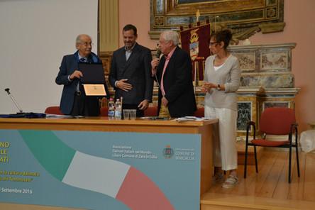 """""""63° Raduno nazionale dei Dalmati a Senigallia. Premio Tommaseo a Marco Balich insieme a Franco Luxardo e Giusi Fasano."""""""