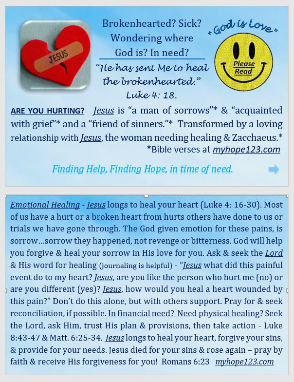 Healing the brokenhearted and hurting.JP