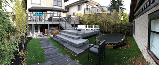 We specialise in back yards as well