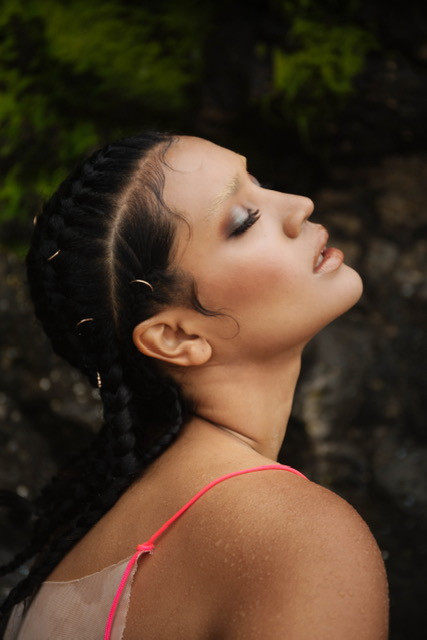 Shot by Christine Shields. Temple Cartel Campaign. Model - Alaina Butler Hair- Haley Sayer Oregon Coast 2020