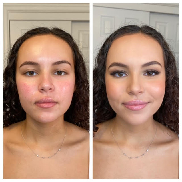 Before & After Senior Photo Makeup. Portland, Oregon. 2020