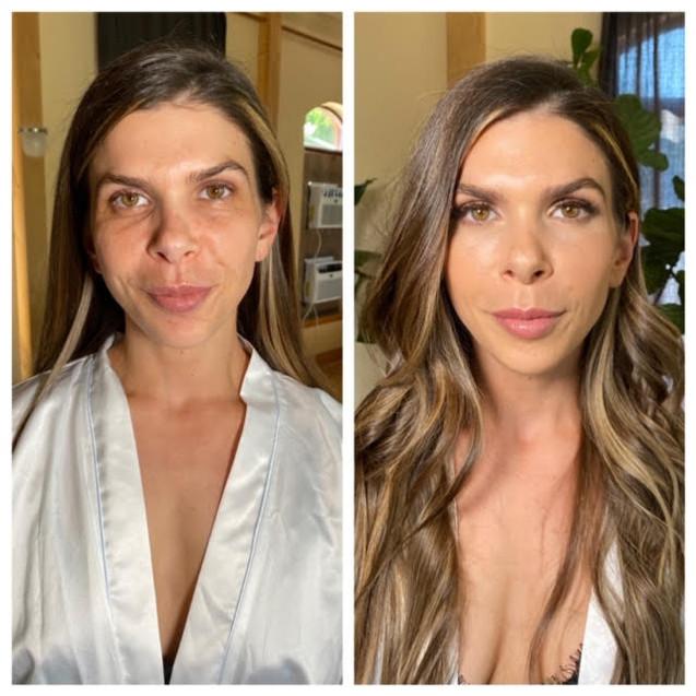 Before & After Bridal Makeup. Portland, Oregon. 2020