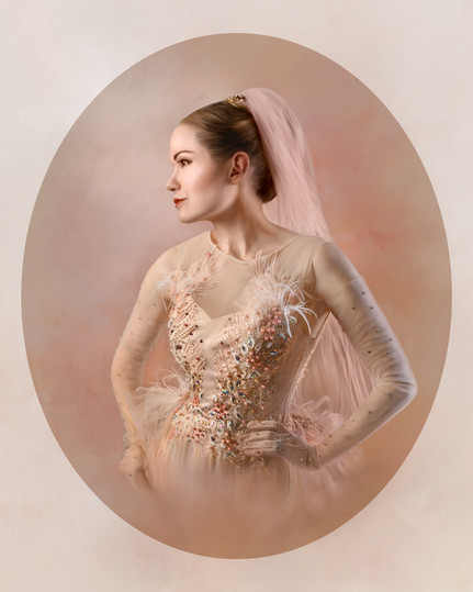 """""""Profile of the Bride in Blush Pink"""" by Rosalind Guder"""