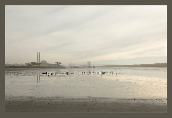 """""""Foggy Winter Twighlight in Moss Landing"""" by Kevin High"""