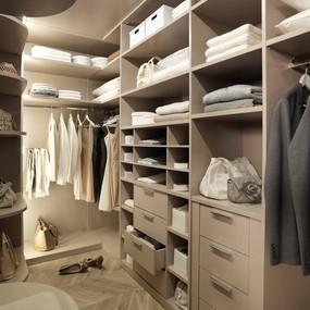 A cost-effective walk-in wardrobe