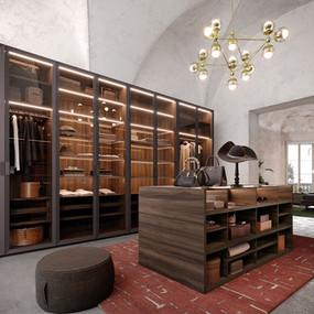 An Italian luxury glass wardrobe