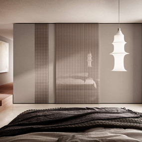 A unique glass wardrobe from Italy