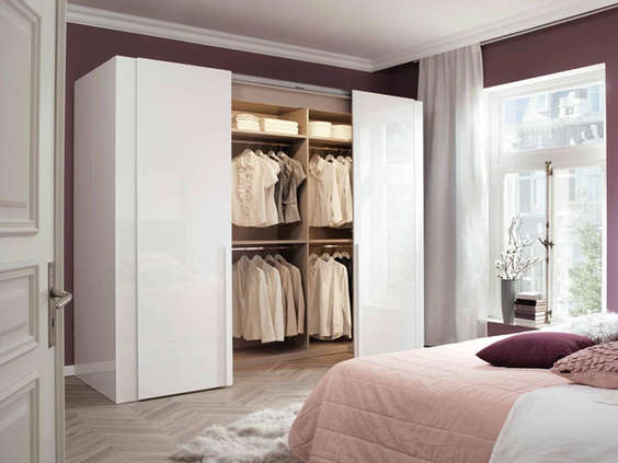 Sliding Doors of a semi walk-in wardrobe.