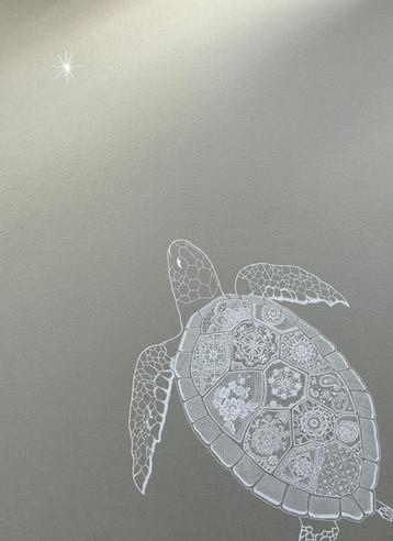 海亀とヴィーナス Sea turtle and Venus.