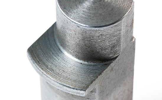 Lathed iron part.