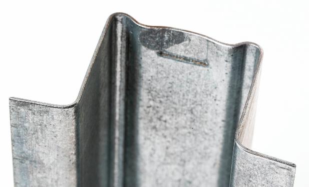 Bent sheet metal.