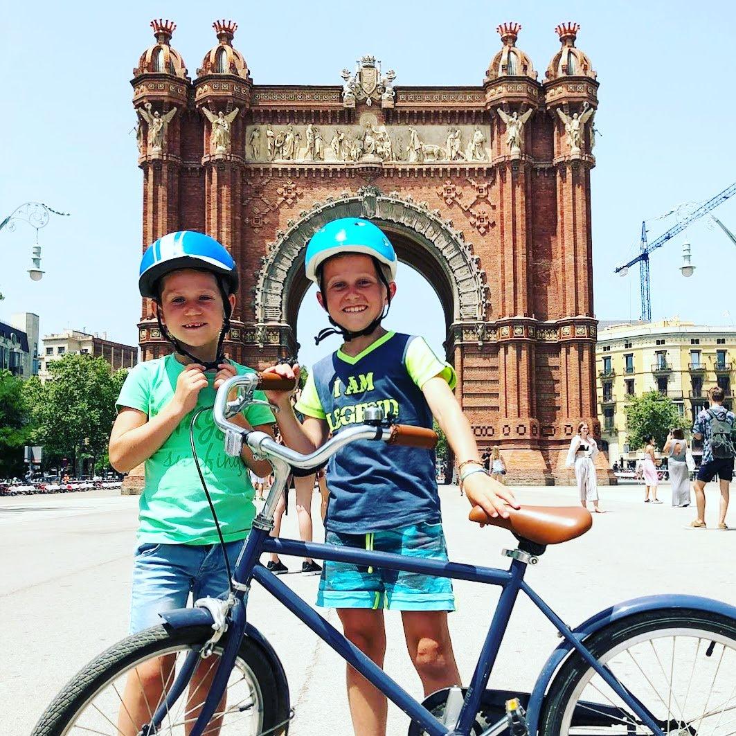 Familie Fietstour in Barcelona