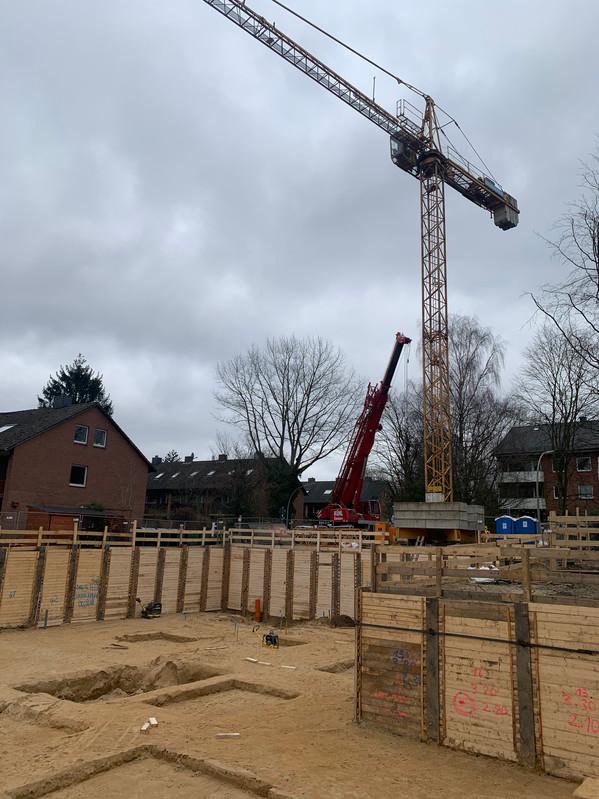 Fertigstellung Baugrube Blickrichtung West-Ost