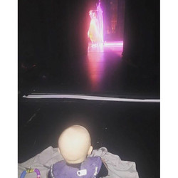Instagram - Lenny backstage watching the show yesterday!! #giggleandhootandfrien