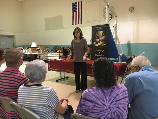 D. A. Jennings, Author, Poet, Storyteller presents a discussion on writing at the Delta Senior Center.