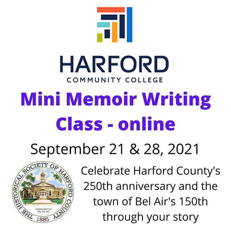 Mini Memoir Writing Class - Online