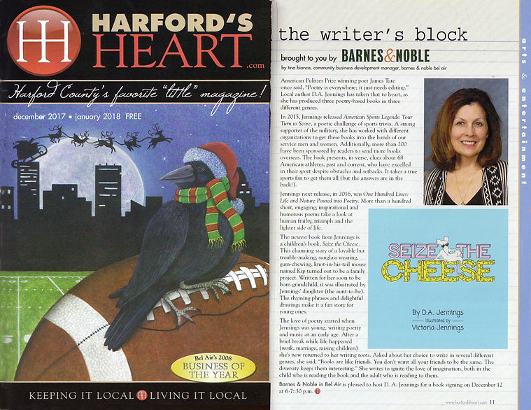 Author D. A. Jennings book review of her Children's book, Seize the Cheese, illustrated by Victoria Jennings