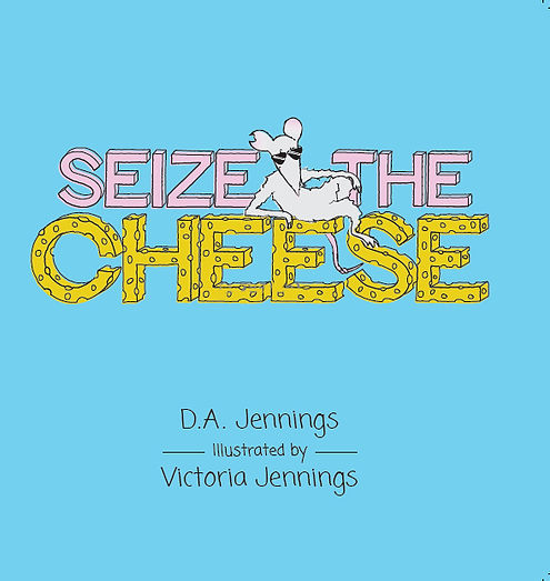 Meet Kip, a mischievous mouse in Seize the Cheese, a children's book by author and poet D. A. Jennings