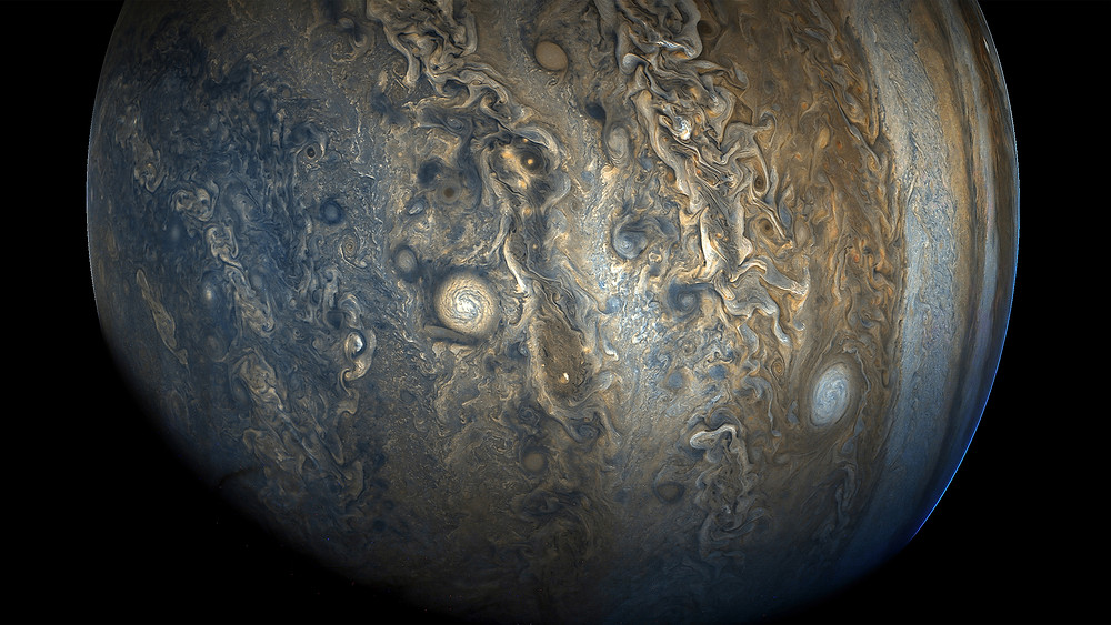 Jupiter's southern hemisphere in beautiful detail in this new image taken by NASA's Juno spacecraft