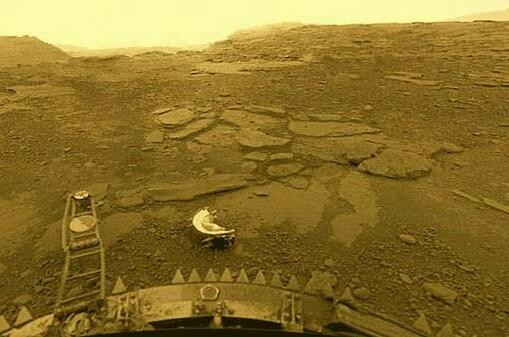 Surface of Venus from the Soviet Venera 13 probe in 1982