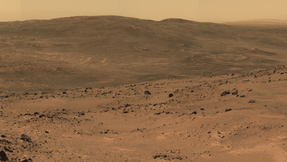 Mars rover panorama from October 2005