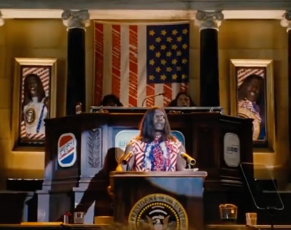U.S. President Dwayne Elizondo Mountain Dew Herbert Camacho giving the State of the Union