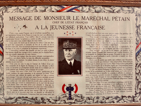 Marshal Philippe Pétain's Message to the French Youth