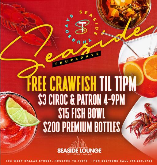 Seaside Thursdays -Free Crawfish