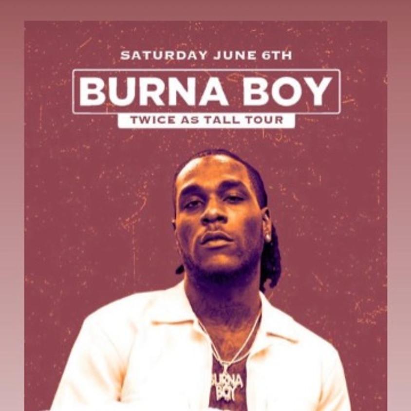Burna Boy Twice as Tall Tour