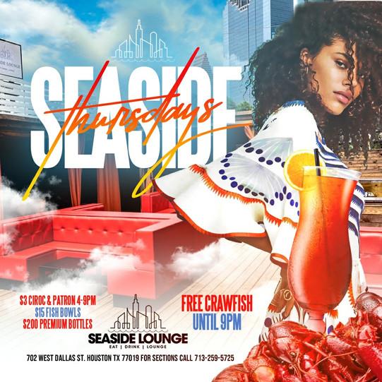Seaside Lounge - Free Crawfish Thursdays