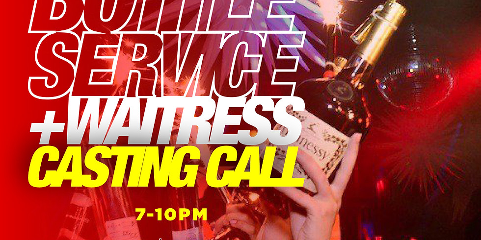 Bottle Service and Waitressing Casting Call