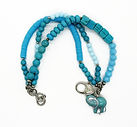 Charm Bracelet Gemstone Turquoise 3 stra