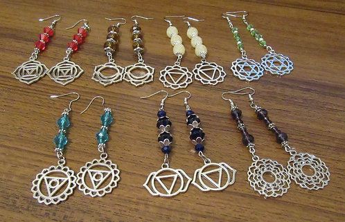 EARRINGS CHAKRA CRYSTAL
