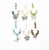 Wine Glass Charms Butterfliies 2 Black F
