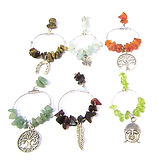 Wine Glass Charms Earth Elements 001   1