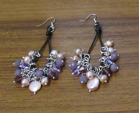 Earrings Dangle Pearls South Seas - Boho