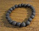 Lava Stone Gemstone Stretch Bracelet (3)