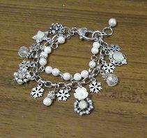 Vintage Pearl Charm Bracelet - 2 strands