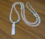 Necklaces Long Mala Matt Clear Quartz Am