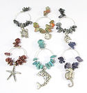 Natural Gemstone Wine Glass Charms Under