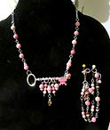 Rhodonite with Key Charm Necklace and Br